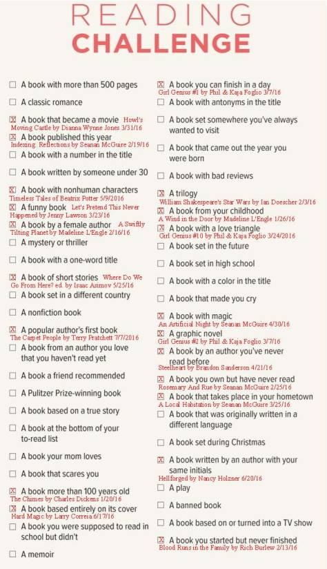 Book Challenge 7-7-16